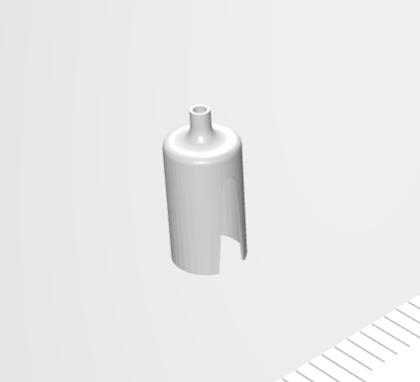 ステンレス小径絞り・側面切欠き加工