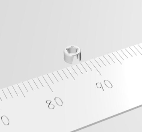 絞り径φ3.4の微細絞り加工