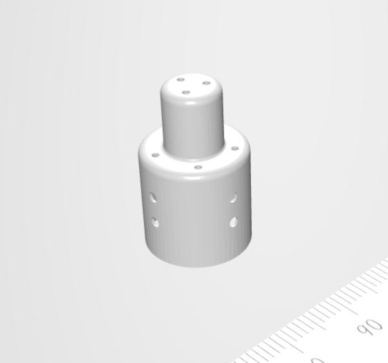 絞り加工側面に専用機にて微細孔加工