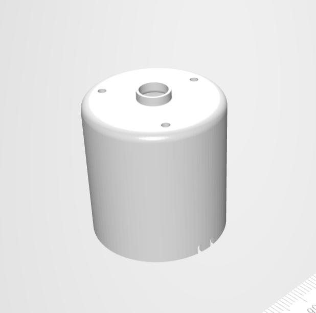 ベーシックな円筒形状の絞り加工